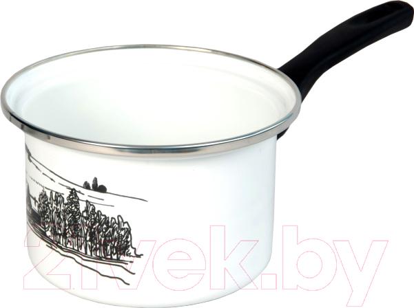 Купить Ковш Сантэкс, Деревенский пейзаж 1-4410400 (белый), Украина