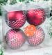 Набор ёлочных игрушек Зимнее волшебство Интервал / 3276609 (зиг заг красный, 4 шт) -