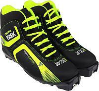 Ботинки для беговых лыж TREK Omni SNS (черный/салатовый, р-р 44) -
