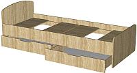 Односпальная кровать Мебель-Класс Лира-1 (сонома) -