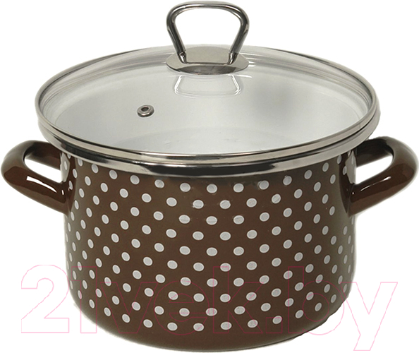 Купить Кастрюля Сантэкс, Горох 1-2215111 (коричневый), Украина
