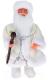 Фигура под ёлку Зимнее волшебство Дед Мороз в валенках белая шуба/посох / 1111401 -