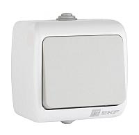 Выключатель EKF Мурманск 1кл 10А IP54 / EFV10-021-30-54 (серый) -