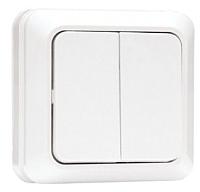 Выключатель EKF Рим 10А 2кл / ENV10-023-10 (белый) -