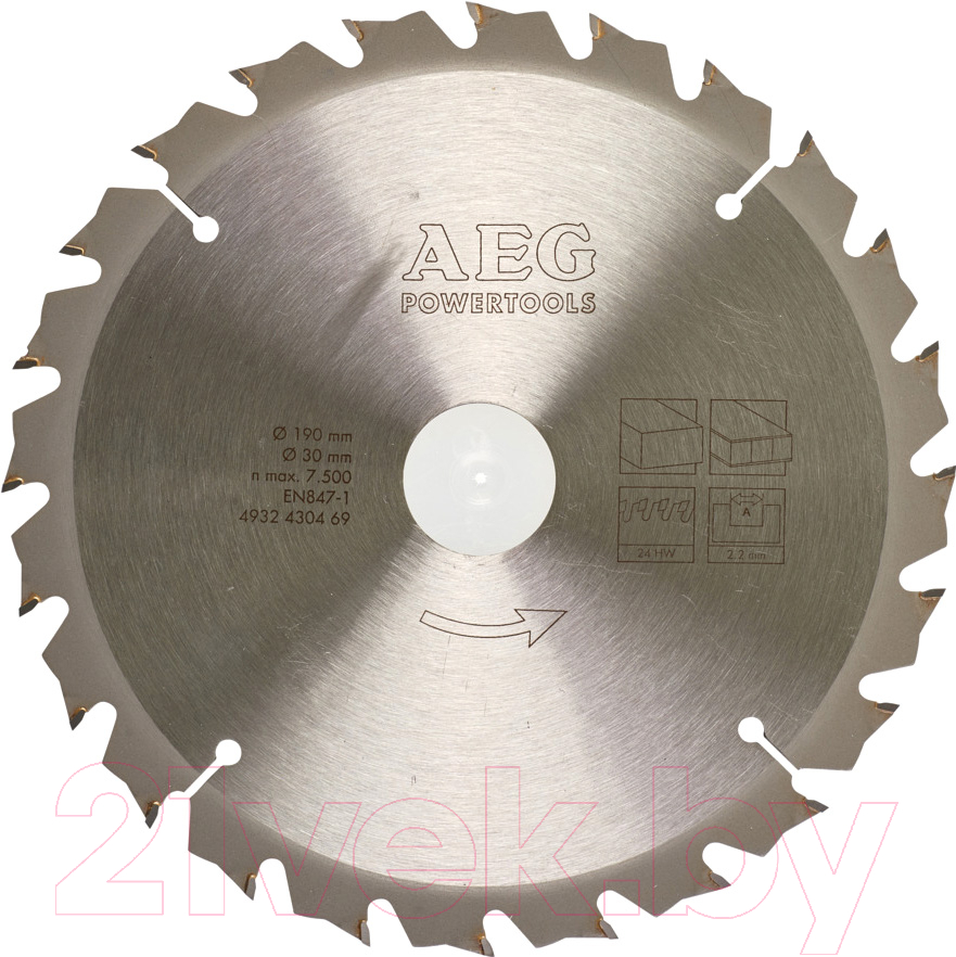 Купить Пильный диск AEG Powertools, 4932430469, Китай