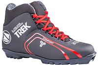 Ботинки для беговых лыж TREK Level 2 S (черный/красный, р-р 45) -