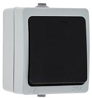 Выключатель EKF Венеция 1кл 10А IP54 / EVV10-021-30-54 (серый) -