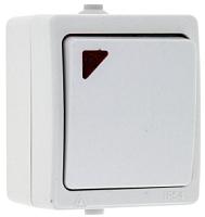 Выключатель EKF Венеция 1кл 10А IP54 с индикатором / EVV10-121-10-54 (белый) -