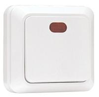 Выключатель EKF Рим 1кл 10А с индикатором / ENV10-121-10 (белый) -