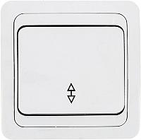 Выключатель EKF Лондон 1кл 10А проходной / EEV10-025-10 (белый) -