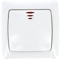 Выключатель EKF Мадрид 1кл 10А с индикатором / EIV10-121-10 (белый) -