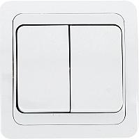 Выключатель EKF Лондон 2кл 10А (белый) -
