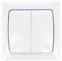 Выключатель EKF Мадрид 2кл 10А / EIV10-023-10 (белый) -