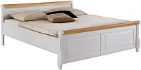 Каркас кровати ММЦ Мальта 140 без ящиков (белый воск/антик) -