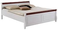 Каркас кровати ММЦ Мальта 140 без ящиков (белый воск/колониал) -