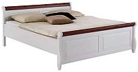 Каркас кровати ММЦ Мальта 160 без ящиков (белый воск/колониал) -
