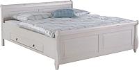 Каркас кровати ММЦ Мальта 180 с ящиком (белый воск) -