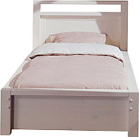 Каркас кровати ММЦ Фьорд 90x190 (белый воск) -