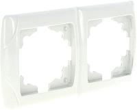 Рамка для выключателя EKF Лондон-2 горизонтальная (белый) -