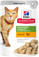 Корм для кошек Hill's Science Plan Feline Adult 7+ Youthful Vitality Chicken (85г) -