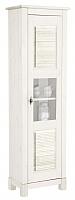 Шкаф-пенал с витриной ММЦ Рауна 10 (белый воск) -