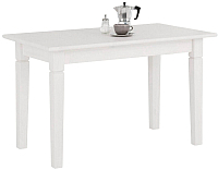 Обеденный стол ММЦ Мадрид 110x68 (белый воск) -