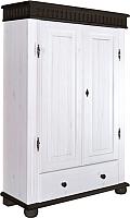 Шкаф ММЦ Хельсинки 21 (белый воск/колониал) -