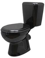 Унитаз напольный Керамин Гранд (черный, с полипропиленовым сиденьем) -