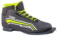 Ботинки для беговых лыж TREK Soul 1 ИК (черный/лайм, р-р 46) -