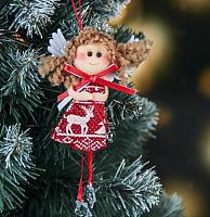 Подвеска новогодняя Зимнее волшебство Девочка платьице с олешками / 3249291 -