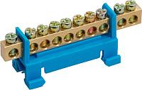 Шина нулевая Chint На DIN-изолятор Стойка N ШНИ-6х9-7 (синий) -