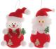 Набор ёлочных игрушек Зимнее волшебство Дед Мороз и снеговик / 718513 (2шт, красный) -