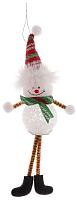 Подвеска новогодняя Зимнее волшебство Снеговик тонкие ножки / 1102738 -