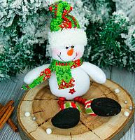 Подвеска новогодняя Зимнее волшебство Снеговик ножки бусинки / 2357087 -