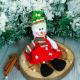 Подвеска новогодняя Зимнее волшебство Снеговик в платьишке / 2357089 -