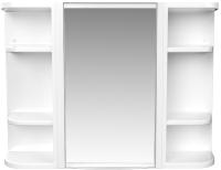 Шкаф с зеркалом для ванной Berossi Hilton НВ 33301000 (снежно-белый) -