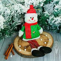 Подвеска новогодняя Зимнее волшебство Снеговик искорка / 2357091 -