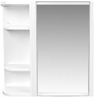 Шкаф с зеркалом для ванной Berossi Hilton Universal НВ 33401000 (снежно-белый) -