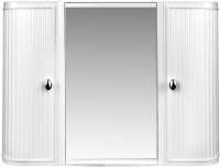 Шкаф с зеркалом для ванной Berossi Hilton Premium НВ 33501000 (снежно-белый) -