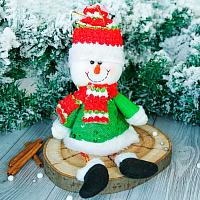 Подвеска новогодняя Зимнее волшебство Снеговик в кафтане / 2357095 -