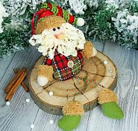Подвеска новогодняя Зимнее волшебство Дед Мороз клетчатая рубашка / 2357096 -