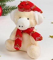 Подвеска новогодняя Зимнее волшебство Хрюша в шапочке и шарфе / 3340262 -