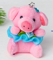 Елочная игрушка Зимнее волшебство Хрюша с цветком в юбочке / 3544542 -