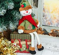 Подвеска новогодняя Зимнее волшебство Две ёлочки снеговик / 3563303 -
