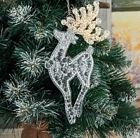 Подвеска новогодняя Зимнее волшебство Олень / 3576010 (2 вида) -