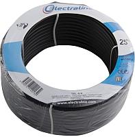 Кабель Electraline 14013 (25м, черный) -