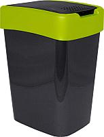 Мусорное ведро Алеана Евро 122066 (гранит/оливковый) -