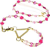Ошейник с поводком Ferplast Papure / 75600416 (розовый) -
