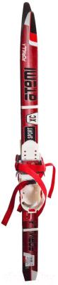 Комплект беговых лыж Atemi Formula Step 90 (красный)
