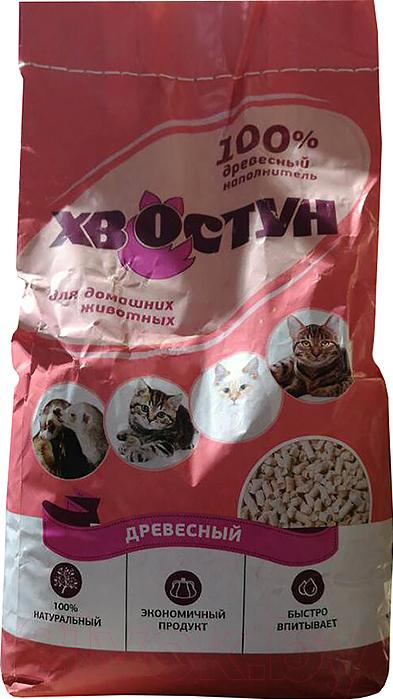 Купить Наполнитель для туалета Хвостун, Древесный (10кг), Россия